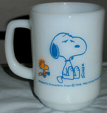 Fire King Snoopy Mug~I'm Not Worth a Thing Before Coffee Break!