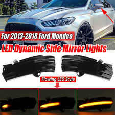 Dynamic LED Turn Signal Light Indicator Mirror Lamp For Ford Mondeo Fusion 13-18