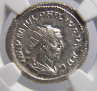 Roman Empire Philip l 244-249 AD  Bl Double Denarius  NGC MS