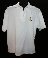 Mens Beijing 2008 Olympics White Polo Shirt Sz XXL  M / L Runs Small Collectible