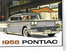 1958 CANADIAN PONTIAC SALES BROCHURE, RARE CANADIAN VERSION, NEW, unreserved!!