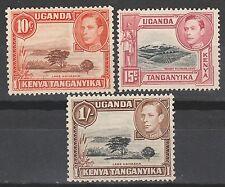 KENYA UGANDA TANGANYIKA 1938 KGVI PICTORIAL VALS TO1/- MNH **