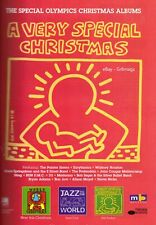 1996 Keith Haring Special Olympics Christmas Album Vintage Print Ad 1990s