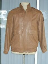 Vtg Expedition Leather Bomber Style Jacket Dark Brown Size 40 By Robert Comstock