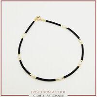 Bracciale Oro massiccio 750‰ -18 kt con Cauciu e Perle naturali