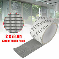 2*80inch Window Screen Repair Patch Adhesive Fiberglass Covering Mesh Hole Tape