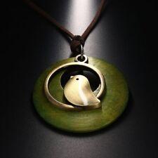 Bird Wooden Bead Pendant Fashion Women Vintage Long New Necklace Velvet Chain