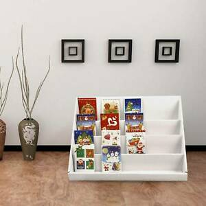 2PCS 4 Tiers shop Display Stand Counter Children Bookshelf Box Storage Book Rack