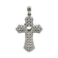 5pcs/lot Silver Alloy Cross Locket Pendant Beads Cage Charms K635