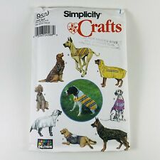 SIMPLICITY 9520 DOG CLOTHES PATTERN FOR LARGER Dogs UNCUT Vintage