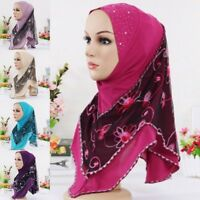 Womens Print Scarf Muslim Soft Headscarf Shawl Scarves Hijab Wrap Headwear Lot