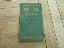 1914 Original Pratt'S Road Atlas England & Wales Anglo-American Oil Co