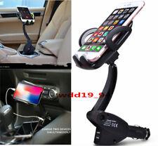 Universal Adjustable Car Mount Gooseneck Holder Cradle charger Cell Phone GPS