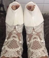 Brand New White Lace Platform Shoes