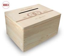 große Holz-Geschenkbox, Hochzeit, Briefbox (BB3) Geldgeschenke incl. Lasergravur