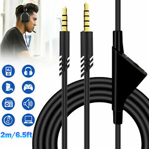 Replacement Audio Cable Cord Volume Control for Astro A10 A40 Gaming Headset 2M