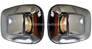 License Plate Light Lamp Lens ONLY Chrome with Step Bumper Set of 2