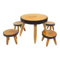 Miniatur Holz Tisch Stuhl Set 1:12 Puppenhaus Tisch und Stühle Puppenhaus