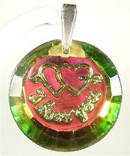 Modeschmuck-Anhänger aus Glas mit Liebe- & Herzen für Damen
