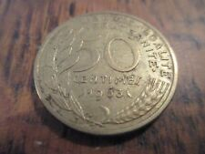 50 centimes marianne bronze-alu 1963 3 plis