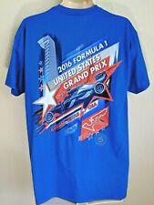 2016 Formula 1 US Grand Prix Blue T-Shirt Tee Austin TX Size L NWT