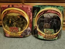 Boromir Lurtz Merry Grishnakh twin pack action figure set (2) LOTR Toy Biz New!