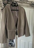 Faux Leather Zara Blazer Jacket