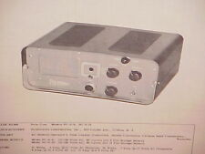 1961 1962 POLY COM POLYTRONICS CB RADIO SERVICE MANUAL MODELS PC-2-6 & PC-2-12