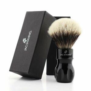 Professional Barber Shave Salon Shaving Silver tip Hair Brush For Men's Grooming