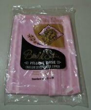 Vintage Bridal satin Hair Care Pillow Cases zippered pillowcase pink satin