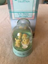 "Enesco Precious Moments Mini Waterball w/ little chicks ""Let There be Light"""