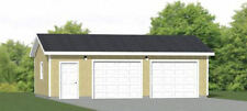 30x20 2-Car Garage -- 600 sq ft -- PDF Garage Plan -- 8ft Walls -- Model 1E