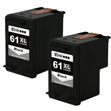 2 Black HP 61XL 61 XL High Yield CH563WN Ink For ENVY 4504 4505 5530 5531 & More
