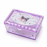Kuromi Glitter Clear Accessory Case Sanrio Japan Kawaii Goods
