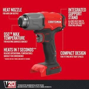 NEW Craftsman V20 / 20V Lith Max 1228-BTU Heat Gun  #CMCE530B  (TOOL ONLY)