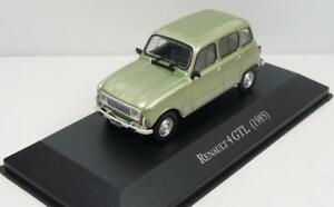 Renault 4 GTL 1985 in metallic green 1:43 scale model, 80/90s collection