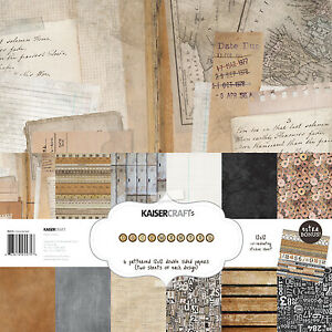 """Kaisercraft Paper Pack 12""""x12"""" + Bonus Sticker Sheet, Documented, PK575"""
