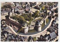 CPSM 35610 FOUGERES vue aérienne du Château Edit ARTAUD
