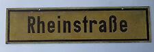Rheinstraße altes Blechschild Straßenschild Verkehrszeichen