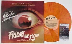 HARRY MANFREDINI signed Waxwork Vinyl Record Soundtrack FRIDAY THE 13th JSA