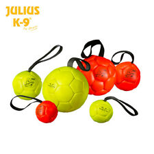 Julius-K9 show training dog ball on a rope puppy bite soft chew play toy