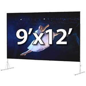 DA-LITE 88703 - FAST-FOLD DELUXE 9'x12' COMPLETE KIT - DUAL VISION - T-LEGS