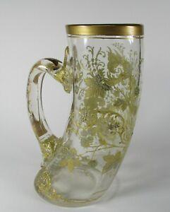 Moser Gilded Glass Horn Shape Glass