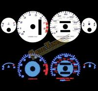 White Indiglo El Gauges Kit Glow BLUE Reverse for 94-01 Integra RS/GS/LS AT ONLY