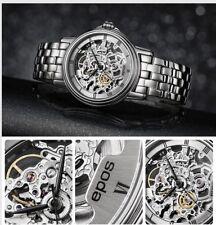 epos Emotion Sapphire Crystal Self Winding Skeleton Swiss Watch Silver 3336 auto