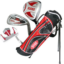 JUNIOR RH GOLF SET NEW RED 4 PCE for KIDS 10yrs plus WITH MATCHING GOLF BAG