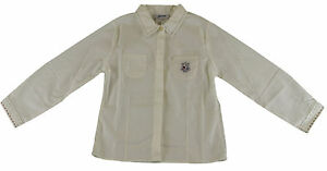 JACADI Boy's Acore Natural/ Off-White Button Down Shirt Size 2 Years NWT $46