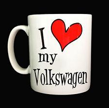 I LOVE COEUR MY VOLKSWAG TASSE MUG CADEAU VOITURE DRIVER VW GOLF CAMPING CAR