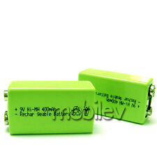 3 9V 9 Volt 400mAh Ni-MH 6F22 PP3 Rechargeable Battery Cell Block Green