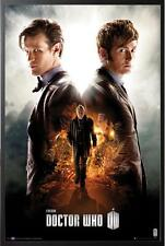 Doctor Who 50th Anniversary Poster Dry Mount in Black Wood Frame, 24x36
